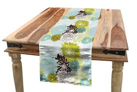 Amazon.com: Ambesonne Floral Table Runner, Pastel ... Refinished Solid Oak Farmhouse Table With 6 Chairs 2 Leaf Ding Fniture In A Range Of Styles Ireland Dfs Rugs 101 The Best Size For Your Room Rug Home 30 Decorating Ideas Pictures Of Inviting Blue Lamb Furnishings Round Vintage Dropleaf Table Total Kenosha Wi Lets Settle This Do Belong In Kitchen Amish Sets
