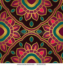 The Pattern With Floral Simple Mandalas Oriental Colorful Ornament Template
