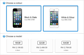Available now iPhone 5 price in Malaysia RM2 199