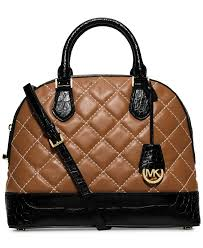 michael michael kors smythe large dome cross stitch satchel