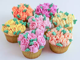 Cupcakes Decorated Using Russian Piping Tips