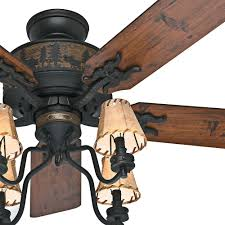 hunter 52 brittany bronze rustic cabin ceiling fan w 4 shade