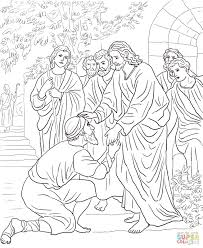 Bible Coloring Pages Blind Bartimaeus Page Full Size