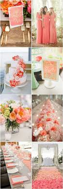 Coral Color Wedding Decorations