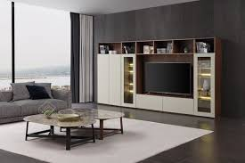 moderne design wohnwand schrank vitrine holz wohnzimmer möbel tv schrankwände