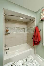white bathroom with blue glass tile backsplash also bathroom glass