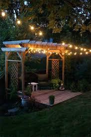 Outdoor Patio Lighting Ideas Patio Outdoor String Lights Outdoor