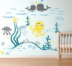 Wall Decals For Nursery Ocean Life Theme Vinyl Art Removable Item
