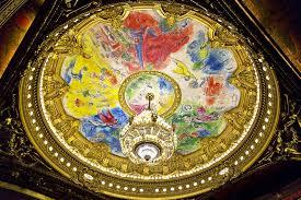 les fresques de chagall au plafond de l opéra garnier