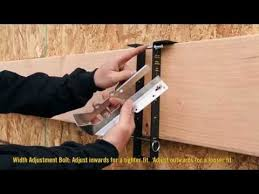 how to install a joist hanger with hanger buddy youtube