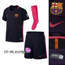 sponsor nouveau maillot barcelone 2016 2017 extérieur enfant