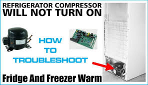 refrigerator compressor will not turn on lights and fans work