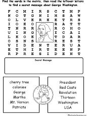 George Washington Cloze Activity