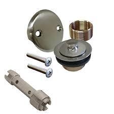 Bathtub Overflow Plate Adapter Bar by Tub Drain Kit Plumbing U0026 Fixtures Ebay