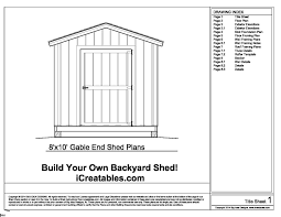 mig free 10 x12 shed plans and material lists for storage