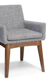 Chanel Volcanic Gray Dining Armchair In 2019   Dining Arm ...