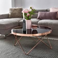 wohnling couchtisch wl5 248 glas ø 82 cm metall wohnzimmertisch modern glastisch rund sofatisch wohnzimmer schwarz moderner coffee table mit