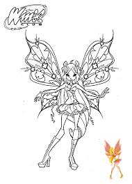 Winx Club Stella Coloring Pages For Girls 22
