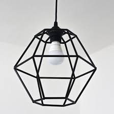 DIY Geometric Pendant Light Fixture