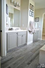 Dark Grey Wood Floors Weathered Wooden Work Perfect For A Rustic Bathroom