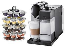 Amazon DeLonghi Lattissima Plus EN520SL Silver Nespresso Capsule Espresso And Cappuccino Machine With Bonus 40 Carousel Super Automatic Pump