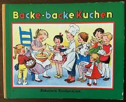 bilderbuch backe backe kuchen bekannte kinderreime pestalozzi 1957 ebay