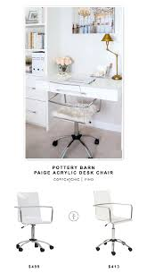 Pottery Barn Paige Acrylic Desk Chair Copycatchic