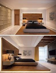 bedroom design with wood modern indirect led lighting