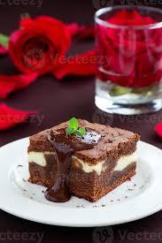 schokoladen brownie mit käse 1426014 stock foto