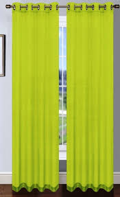 Crushed Voile Curtains Grommet by Lime Green Platinum Sheer Voile Curtain With Grommets Moshells