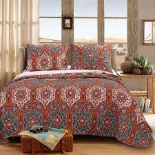 Greenland Home Bedding by Sofia Quilt Set Gl 1609dmst Global Vintage Quilt Sets Bedding