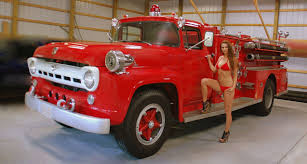 100 Ford Fire Truck 1957 Fire Truck Pumper Professional Commercial Vehicles