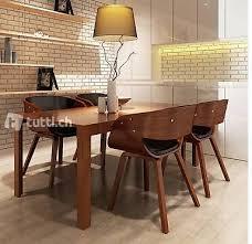 4 x esszimmer stuhl stühle sessel esszimmerstühle holzrahme