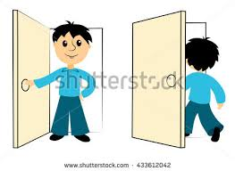 Out The Door Clipart ClipartXtras