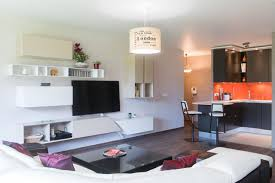 enssemble salon et cuisine ouverte mobilier design italien
