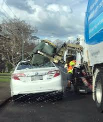 100 Rubbish Truck Oh Crap Auckland Rubbish Truck Dumps Bin On Parked Taxi NZ Herald