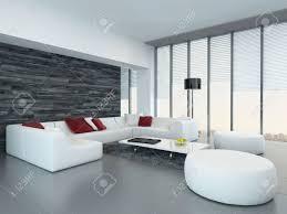 weiß luxus wohnzimmer interieur mit schwarzen holzwand