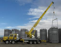 100 Truck Mounted Boom Lift Mounted Hydraulic Cranes Supplied By RACGermany