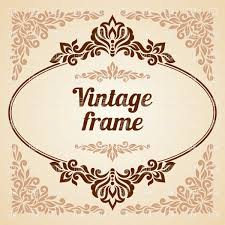 Oval Vintage Frame With Curly Decoration Vector Image Vector