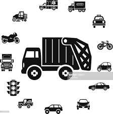 100 Truck And Transportation Trash Icon Ring Border Vector Art Getty