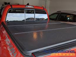 2016-2018 Toyota Tacoma Rugged Hard Folding Tonneau Cover - Rugged ... Truck Bed Cover Reviews Access Lorado Covers Introducing The Sierra 1500 All Terrain X Gmc Life Gatortrax Retractable Tonneau Review On 2012 Ford F150 Revolverx2 Hard Rolling Trrac Sr Walmart Ideas Best 55ft Top Trifold For 52018 Pickup Rough Undcover Elite Personal Caddy Toolbox Foldacover 62018 Toyota Tacoma Folding Bakflip Mx4 Tonno Pro Fold Premium Alinium And Vinyl Trifold