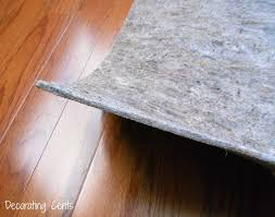 Best Felt Rug Pads For Hardwood Floors by Decorating Cents February 2014