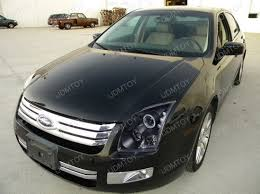 06 09 ford fusion black dual halo projector led headlights
