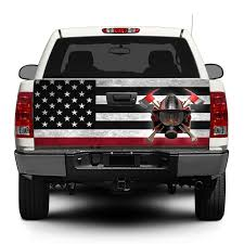 Product: American Flag Firefighter Tailgate Decal Sticker Wrap Pick ... 2016 2018 Toyota Tacoma Tailgate Letter Insert Gloss Series Ford F150 Center Stripe 15 Center Hood Racing Stripes Decals Stamped Sticker Reaper Tailgate Blackout Vinyl Graphic Decal Complete Set A 3rdg Jupiter On Earth Rode Precut Emblem Custom Raptor Mud Splash Wrap Car City Truck Graphics Wraps October 2012 Keith Brick Design Metal Mulisha Skull Circle Window X22 Speedway Blackout