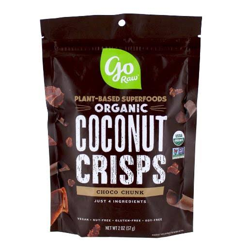 Go Raw Coconut Crisps - Chocolate