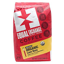 Equal Exchange Love Buzz Blend Organic Coffee Bean 12 Ounce Package