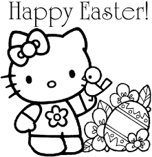 Hello Kitty Easter Coloring Pages Printable Archives Best Drawing