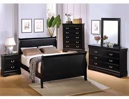 6 piece deep black louis philippe sleigh bedroom furniture set by