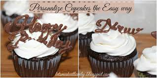 Simple way to personalize and decorate cupcakes for any occasion using chocolate Birthday Cupcakes