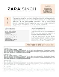 Resume Templates To Highlight Your Accomplishments